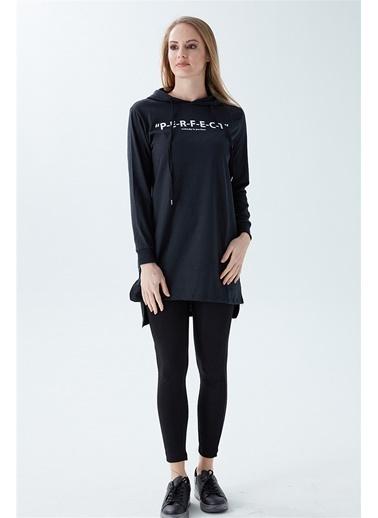 Modaplaza Kadın Perfect Baskılı Sweatshirt Siyah